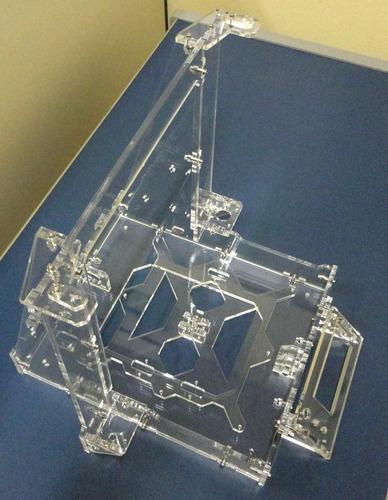 estrutura (frame) imp.3d prusa i3 graber acrílico - cristal