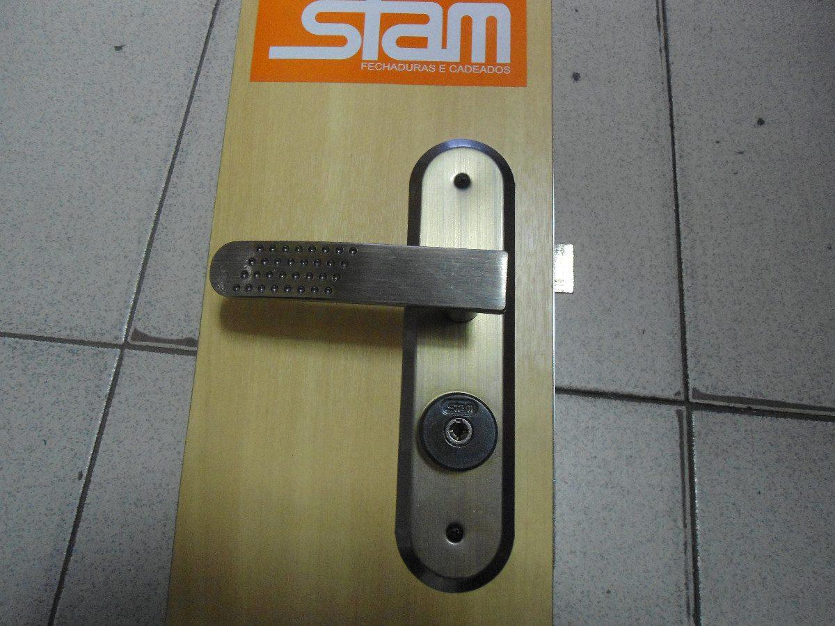 Fechadura Stan ~ Fechadura Stam 1800 21 Escovada R$ 97,00 em Mercado Livre