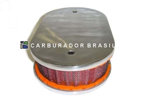 filtro esportivo em alumínio ( marmita) - carburador brasil