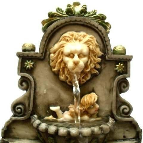 fonte de água bica de leão