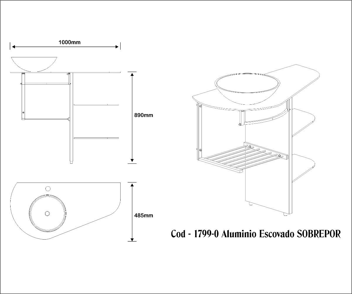 Gabinete Banheiro Alto Padrao Lavabo R$ 1.099 00 em Mercado Livre #303030 1200 1000