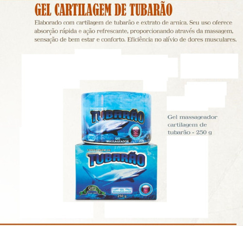 gel massageador cartilagem de tubarão 250g flora pura