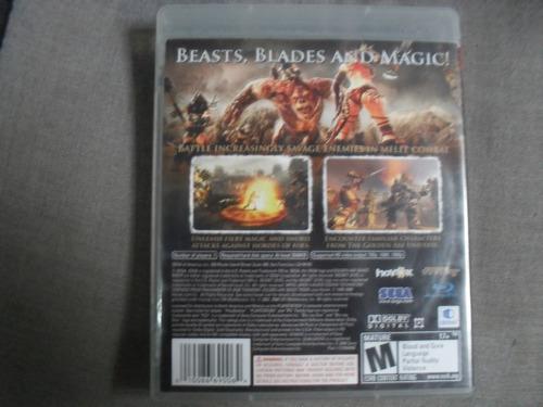 golden axe beast rider playstation 3