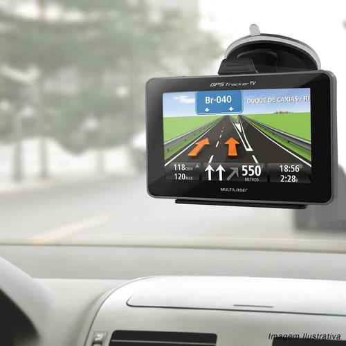 gps automotivo tv digital multilaser tracker tela 4.3 touch