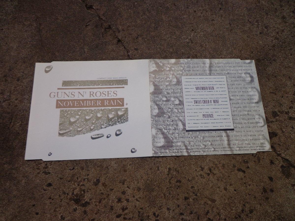 CD Singles - Guns N' Roses - Yesterdays / November Rain - Geffen ...