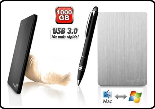 hd externo seagate 1tb backup plus slim - pc e mac |1000gb|