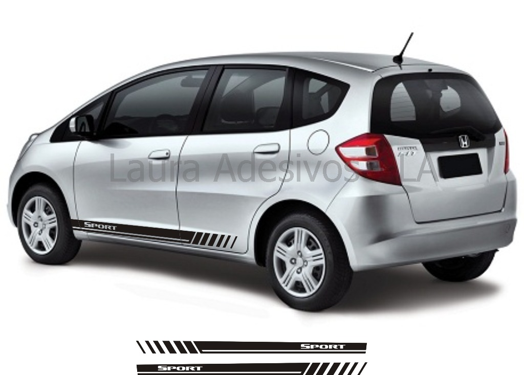 Adesivo new fit honda nf1 sport acessorios ex lxl la r for Honda fit enter code