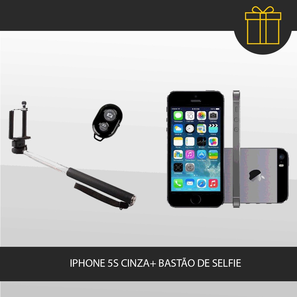 iphone 5s apple cinza 16gb selfie stick webfones r em mercado livre. Black Bedroom Furniture Sets. Home Design Ideas