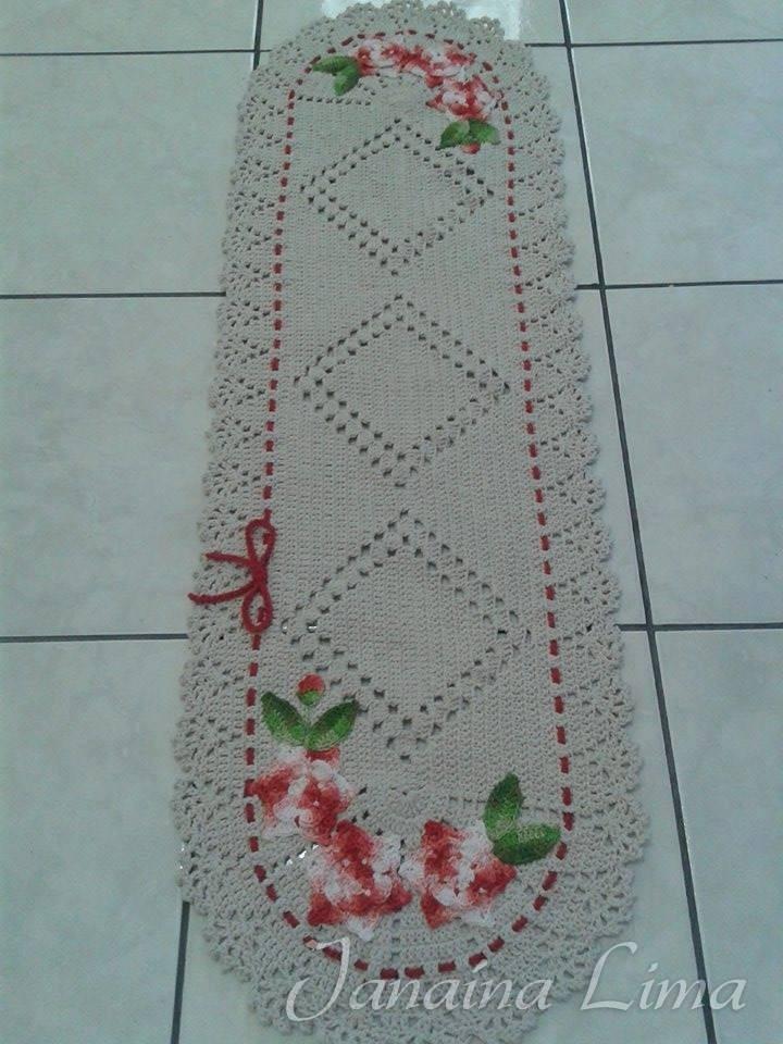 Jogo De Cozinha Em Barbante Crochê 3 Peças  R$ 170,00 em Mercado