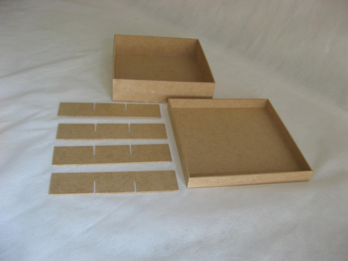 Armario Para Cozinha De Parede ~ Kit 60 Caixas 20x20x5 Mdf Cru Com 9 Divisórias Atacado R$ 300,00 em Mercado Livre