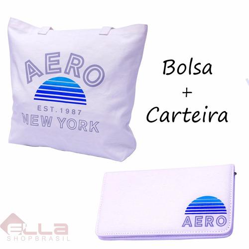 Bolsa Feminina Aeropostale : Kit bolsa e carteira aeropostale original pronta entrega