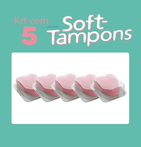 kit com 5 soft tampons absorvente ntimo interno coletor