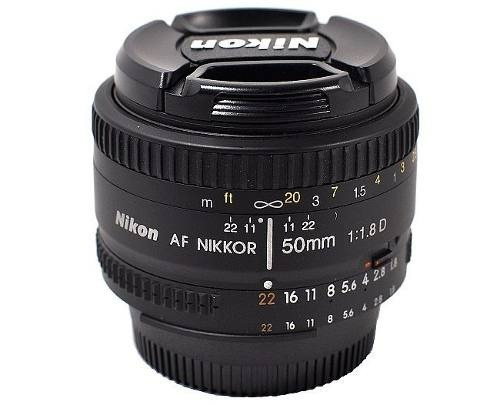 lente nikon 50mm f1.8 auto-foco nikkor f/1.8d