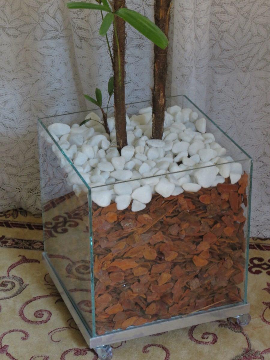 pedras para jardim mercado livre: No Cachepot Vidro Pedras Brancas Cascas – R$ 169,90 em Mercado Livre
