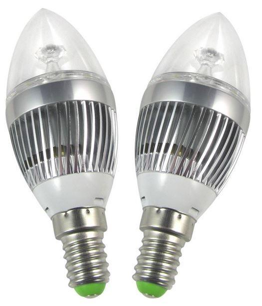 Lampada E12 Led Vela: Lâmpada Led Vela E14 9w 110ou220v Branco Quente