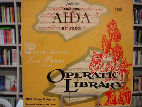 lp 33 rpm - operatic library - aida