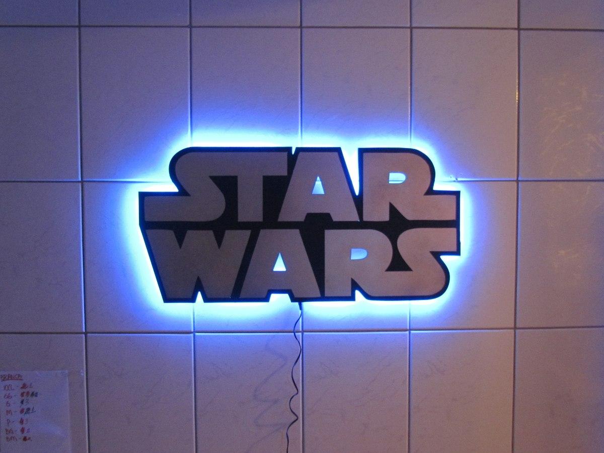 lumin ria de led star wars em mdf r 135 00 em mercado livre. Black Bedroom Furniture Sets. Home Design Ideas