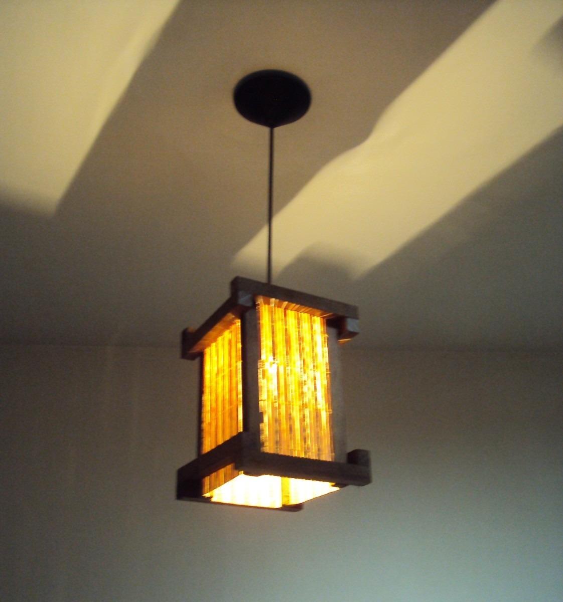 Iluminacao Para Quarto Mercado Livre ~   De Teto Lustre Rustico Japones Sala Quarto  R$ 79,00 em Mercado Livre
