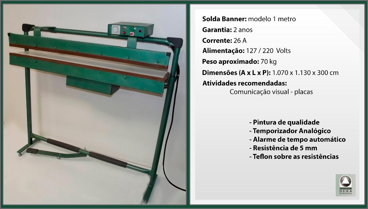 Maquina solda banner barra 1 metro por 1 cm 127 volts for Espejo de 1 metro por 2 metros