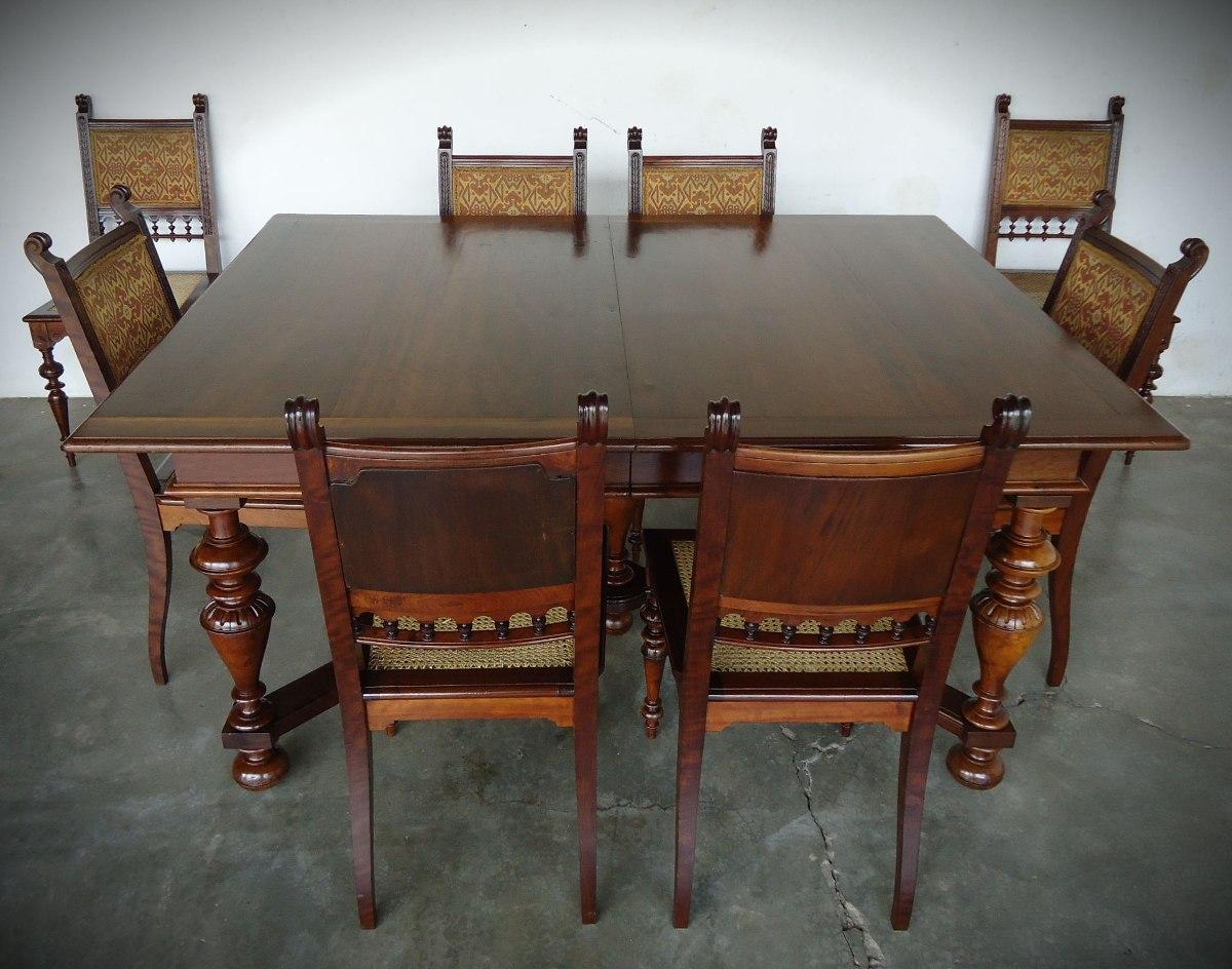 De Jantar Com 8 Cadeiras Império R$ 10.500 00 em Mercado Livre #65422F 1200x944