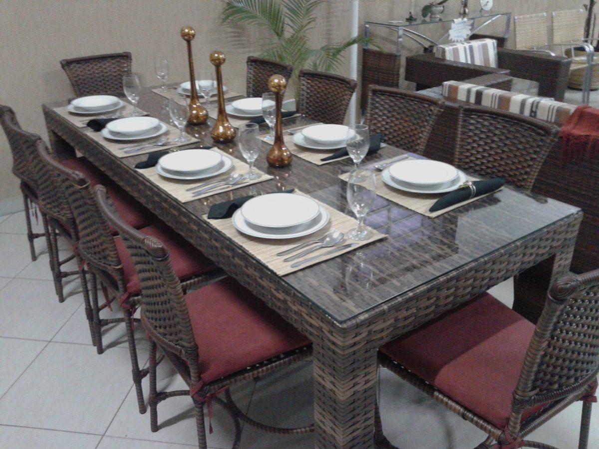 mesa de jantar de fibra sintética de 2 40 x 0 90 c/ 10 cad. #654243 1200x900