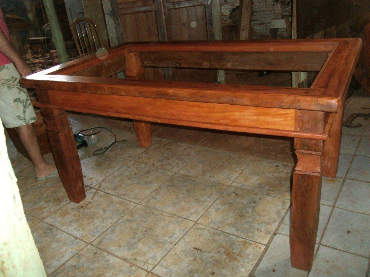 Mesa De Jantar Em Madeira Rustica Com Tampo Para Vidro R$ 999 00 em  #AD4E1E 1200x900