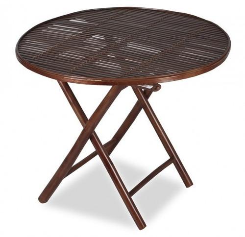 mesa jardim dobravel:Mesa De Jardim Dobrável Em Bamboo – R$ 343,03 em Mercado Livre