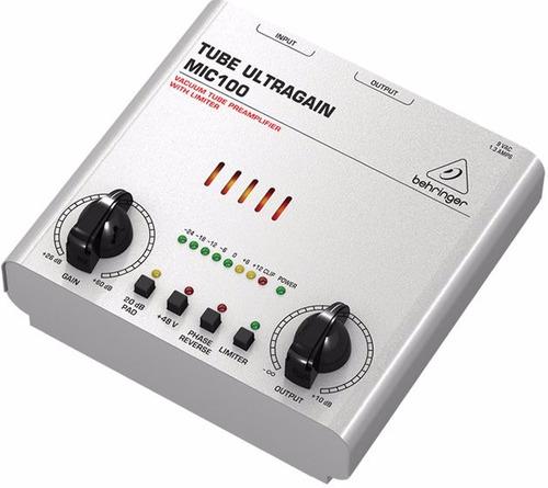 mic100 pré amplificador valvulado behringer mic 100