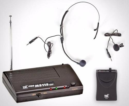 microfone sem fio tsi ms115 cli cabeça, lapela, instrumentos