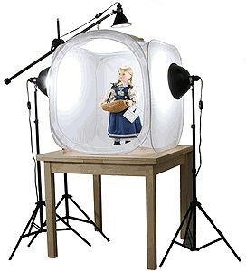 mini estúdio fotográfico 80x80cm tenda de luz difusora cl-80
