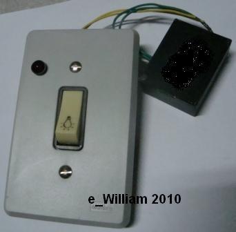 minuteria eletronica 220v 240w incandescente c/pulsad e led