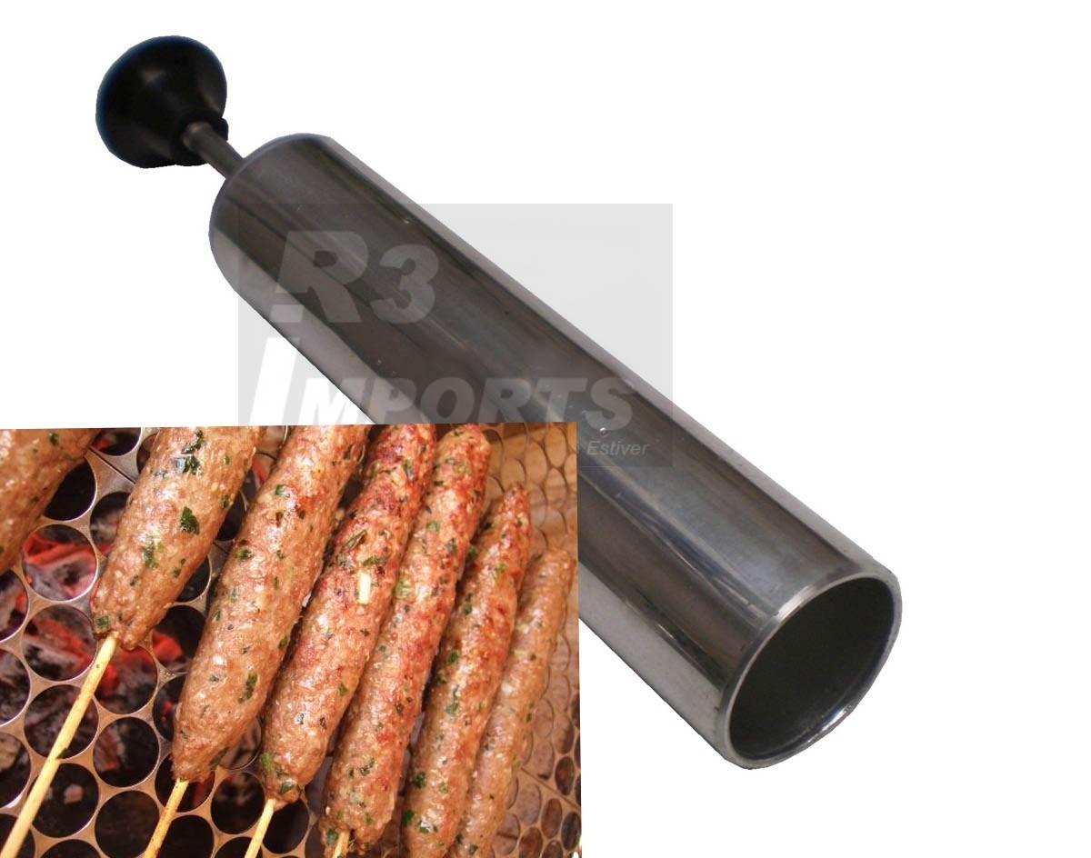 Modelador Kafta Espeto Carne Moida Churrasco Forma Alumínio R$ 19  #B0611B 1200 944