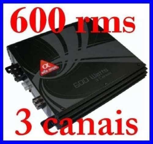 modulo amplificador alfa amps three 600 rms 3 canais oferta