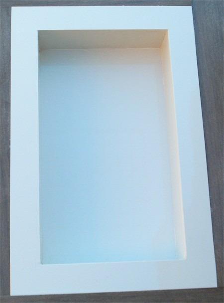 Nicho Para Banheiro Em Porcelanato  Branco Diamante  R$ 215,00 em Mercado L -> Nicho Em Banheiro Branco