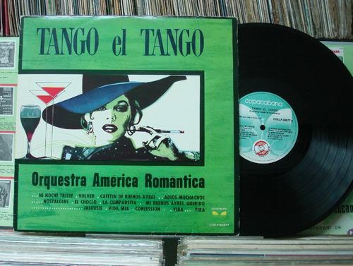 orquestra américa romântica tango el tango - lp copacabana