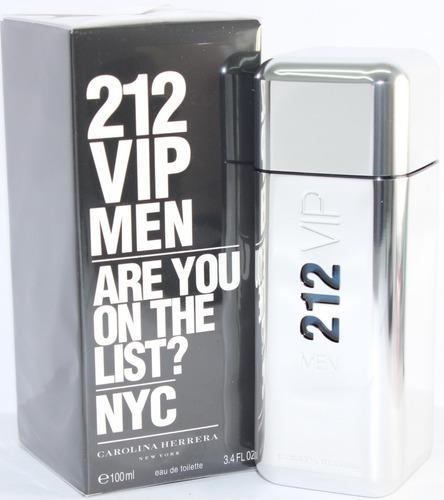 perfume 212 vip men carolina herrera 100ml  pronta entrega