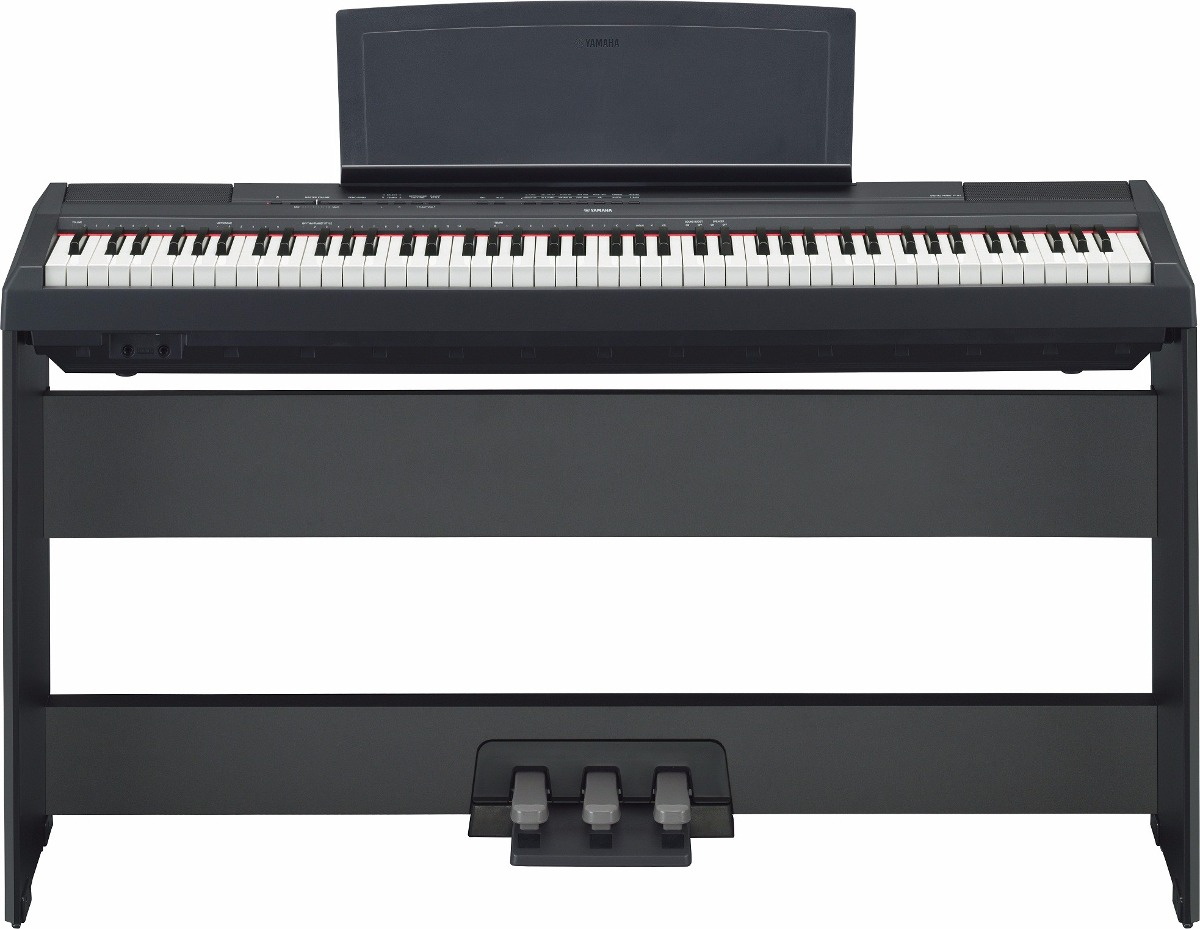 piano digital 88 teclas p115 preto yamaha fonte de brinde r em mercado livre. Black Bedroom Furniture Sets. Home Design Ideas