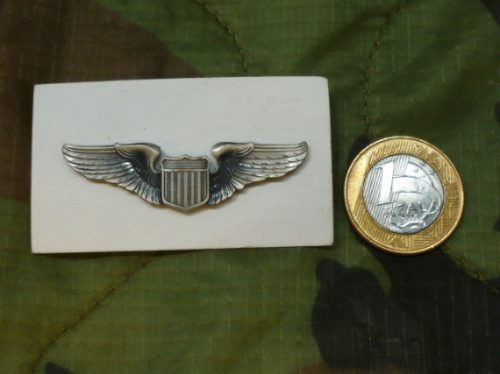 pin metal insignia broche asa piloto usaf aviao militar eua
