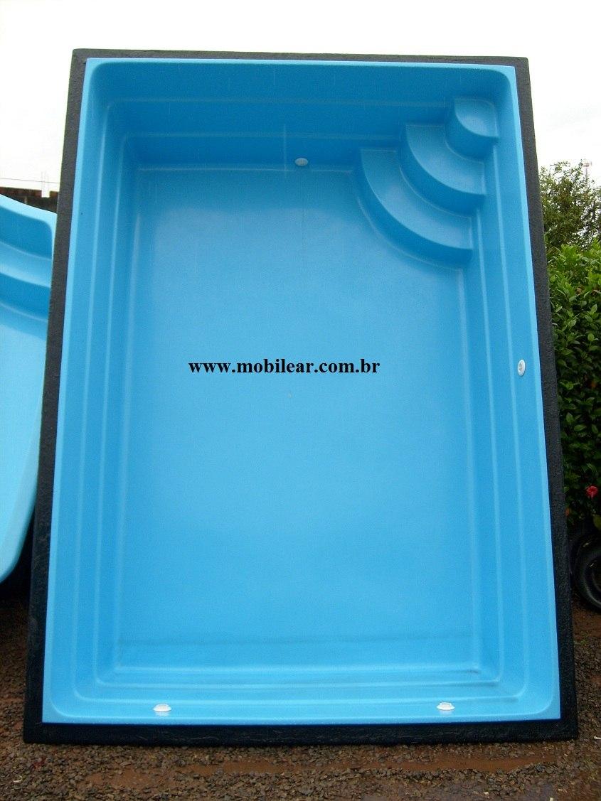 Piscina de fibra litros tamanho 3 40 x 2 40 x 0 90 for Litros de una piscina