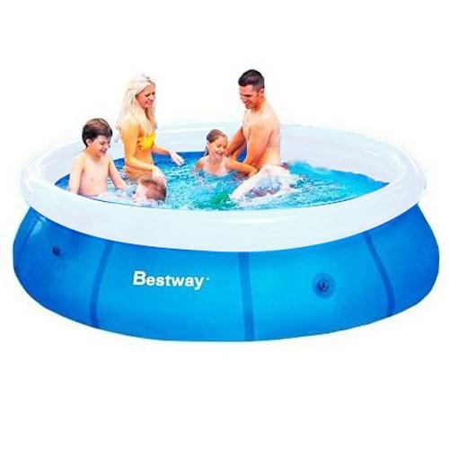 Piscina infl vel 3700 litros 3 05m x 76cm fast set bestway for Calcular litros piscina