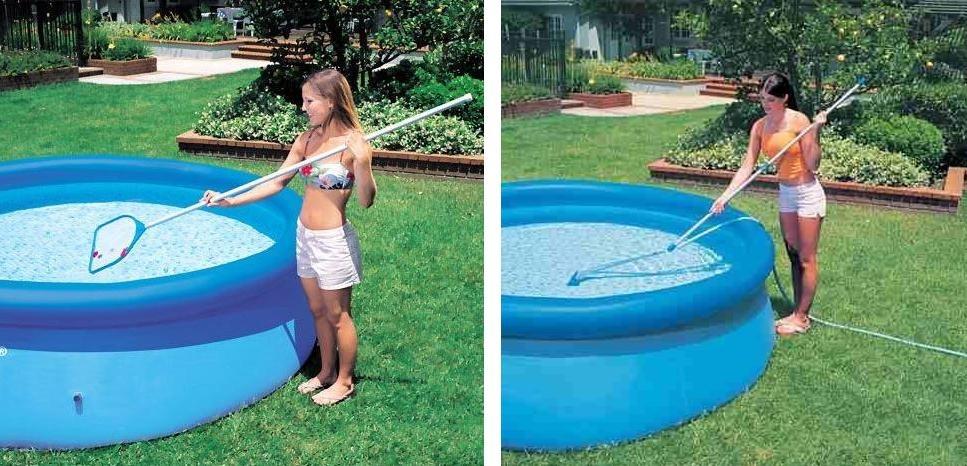 Piscina intex 6503 litros filtro capa forro kit de limpeza for Filtro piscina intex