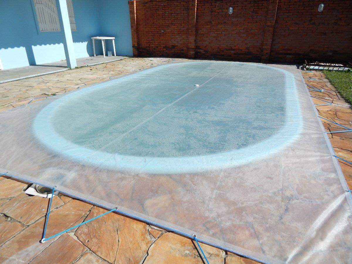Capa para piscina capasolar 6 5m x 3 5m lona t rmica r for Lonas para piscinas desmontables
