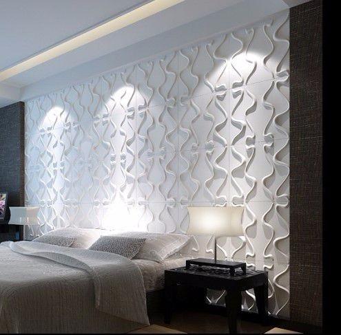 Placa 3d board 50x50 pvc revestimento de parede pre o m - Placas decorativas para pared interior ...