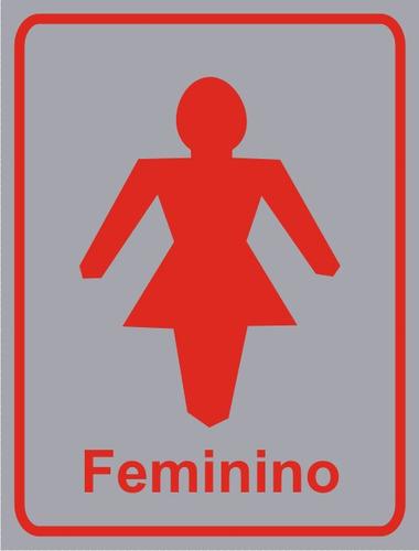 Placa Banheiro Feminino  R$ 8,00 em Mercado Livre -> Banheiro Feminino Placa
