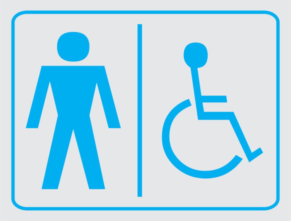 Placa Banheiro Masculino E Cadeirante R$ 8 00 em Mercado Livre #0092CC 1200 914