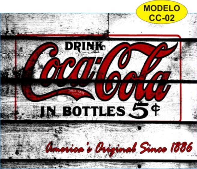 Placas decorativas retro vintage coca cola em chapa de - Chapa coca cola pared ...