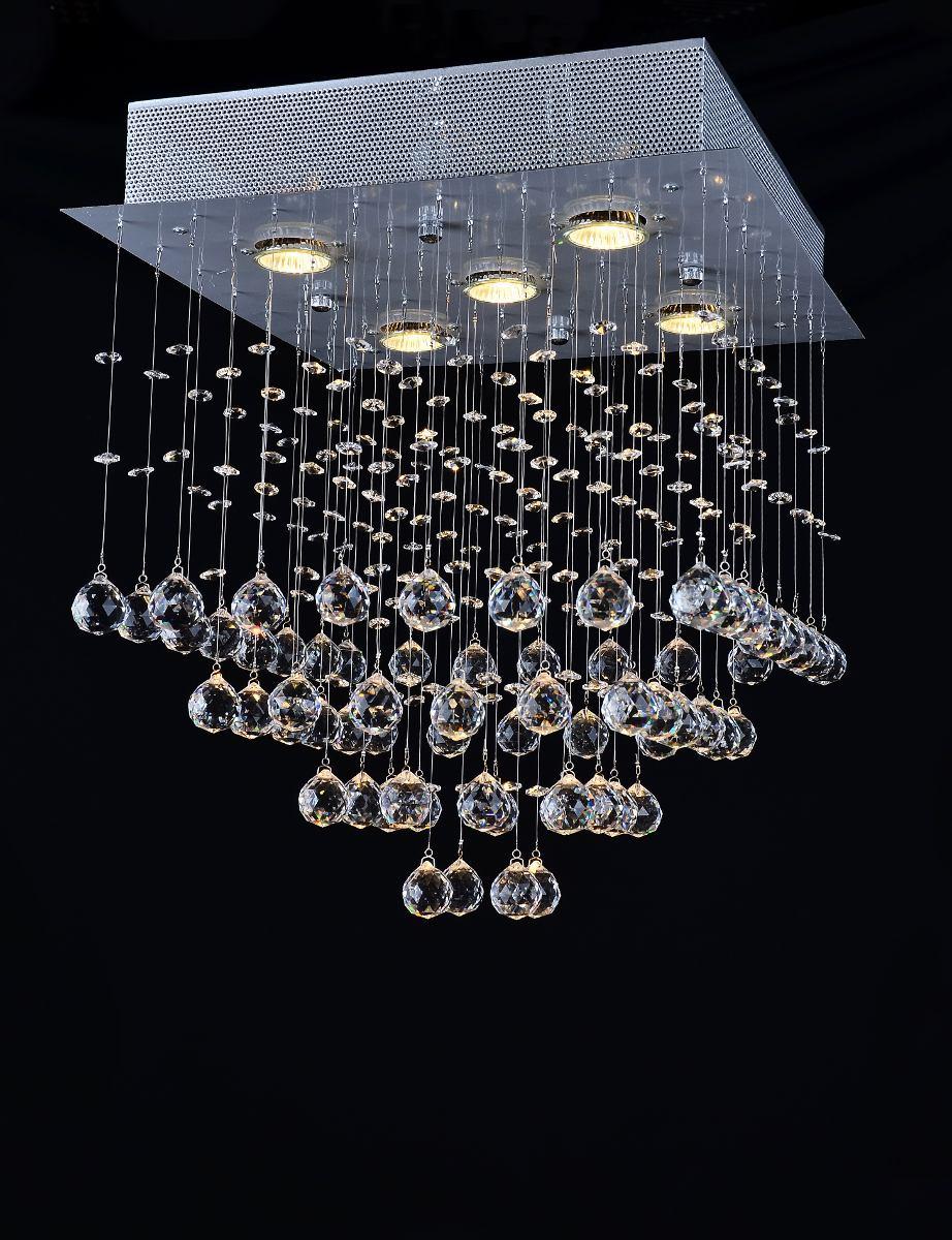 plafon lustre quadrado em cristal k9 para 5 lampadas r 878 87 em mercado livre. Black Bedroom Furniture Sets. Home Design Ideas