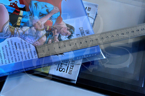 plástico para gibis formato encadernado - salvat, marvel, dc