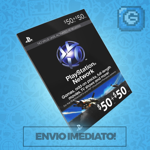 playstation network card - cartão psn card $ 100 -2x 50$