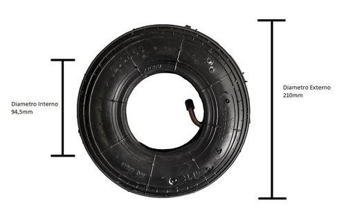 pneu inflável 200 x 50 x 8 para cadeira de rodas motorizada
